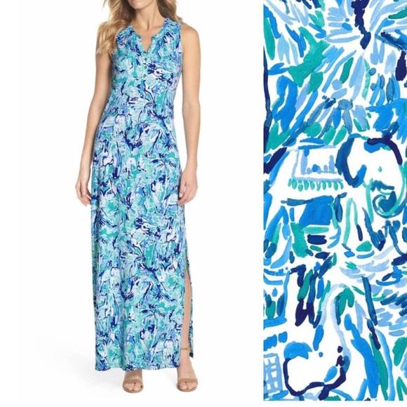 2ca3441161 Lilly Pulitzer Dresses   Skirts - NWOT Lilly Pulitzer Maxi Essie Elephants  Dress